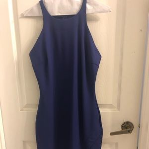 Elizabeth & James purple bodycon dress